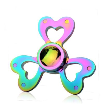 rainbow heart fidget spinner