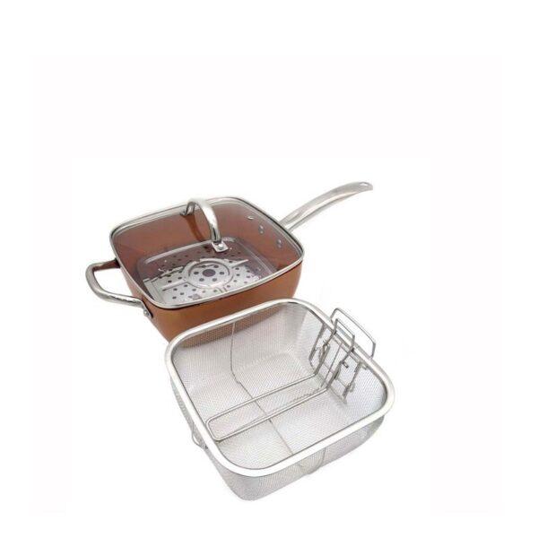 copper pan set