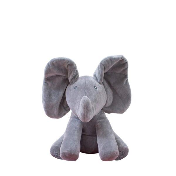 Gray Flappy Peek-Boo Elephant