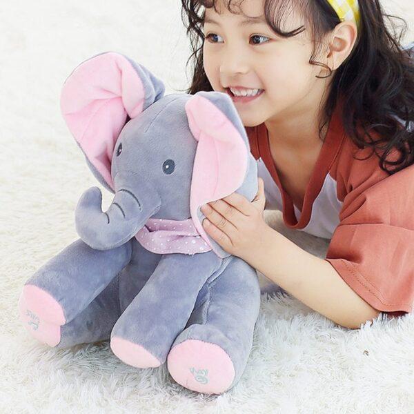 Flappy Peek-Boo Elephant wit a girl