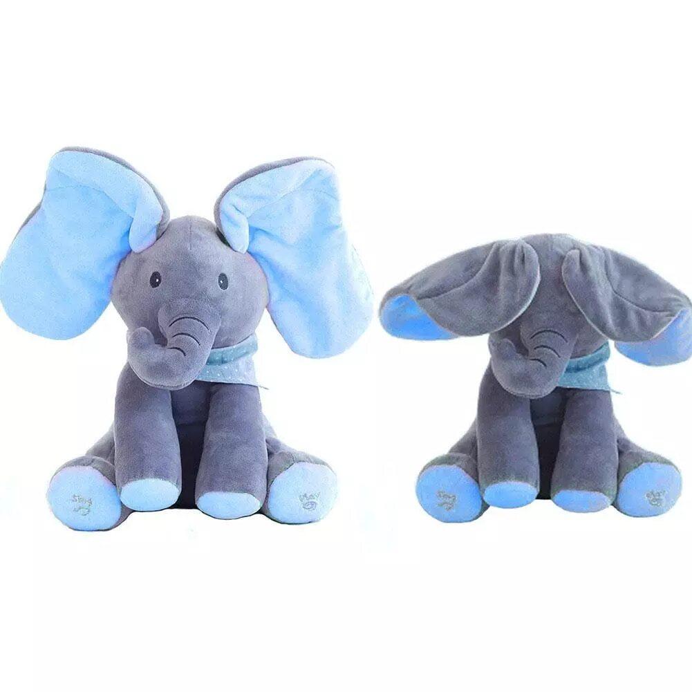 Blue Flappy Peek-Boo Elephant