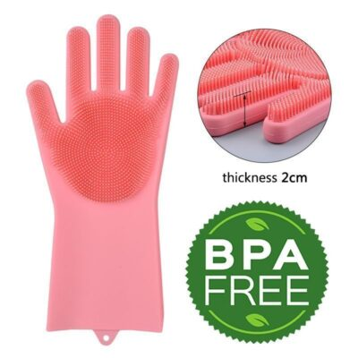 scrubbing gloves