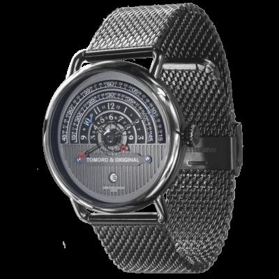 Hemi circle dial watch
