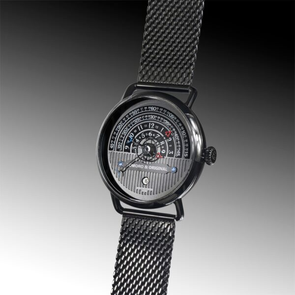 Hemi circle dial watch tomoro watch front view