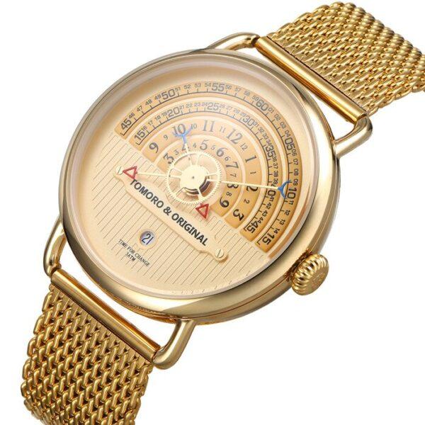 Hemi circle dial watch tomoro watch