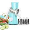 TURBOCHOP FRUIT VEGETABLE CHOPPER Round Mandoline Slicer Vegetable Cutter