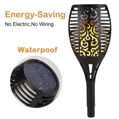 Led Solar flame torch luxenmart