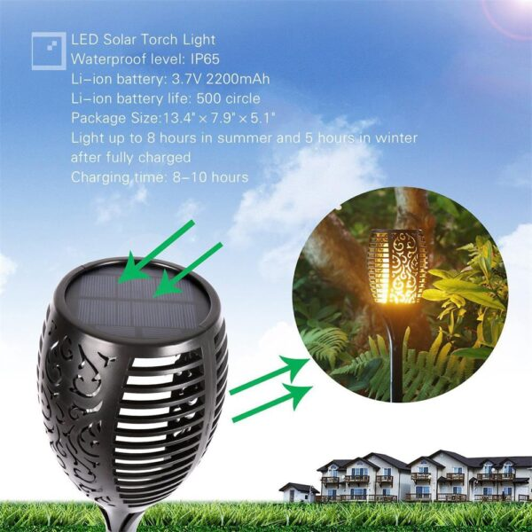 SOLAR FLAME TORCH Luxenmart