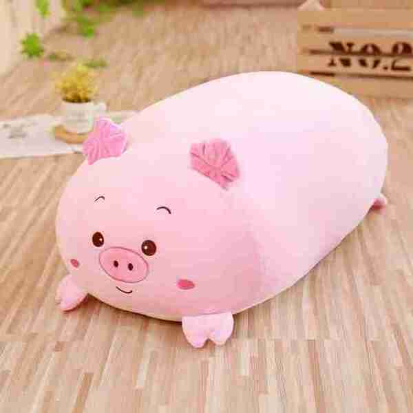 the-soothing pig plush pillow
