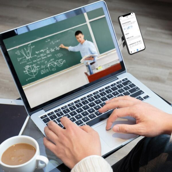 Adjustable Laptop Side Mount Clip Laptop Phone Holder