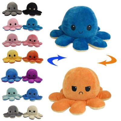 Reversible Octopus Plush Toy - Best Flip Octopus Stuffed Plush Doll