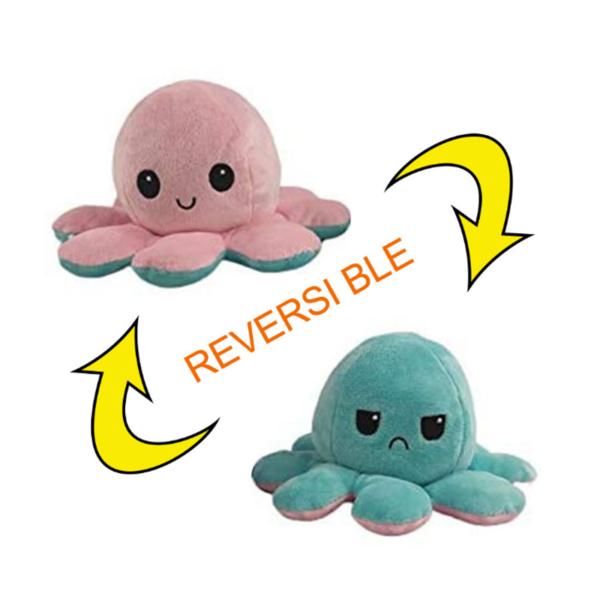 Reversible Octopus Plush Toy - Best Flip Octopus Stuffed Plush Doll