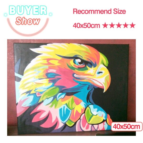 Paints By Numbers Animals 50x40cm Pictures Oil Painting By Numbers Set Gift Coloring By Numbers Canvas Wall Set