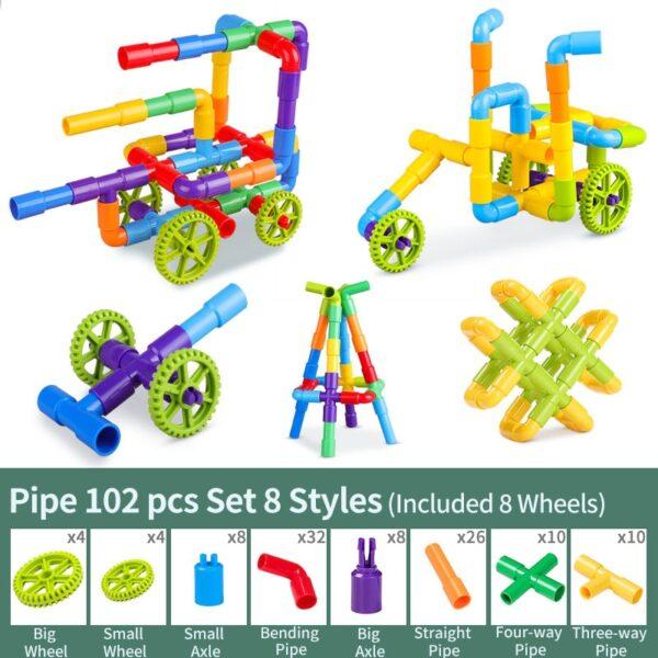Pipe Building Blocks Toys Enlightening Pipeline Tunnel Construction Educational Toys