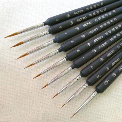 5 PCS Miniature Paint Brush Set Professional Nylon Brush Thin Hook Line Pen