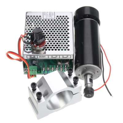 Machifit ER11 Chuck CNC 500W Spindle Motor with 52mm Clamps and Power Supply Speed Governor