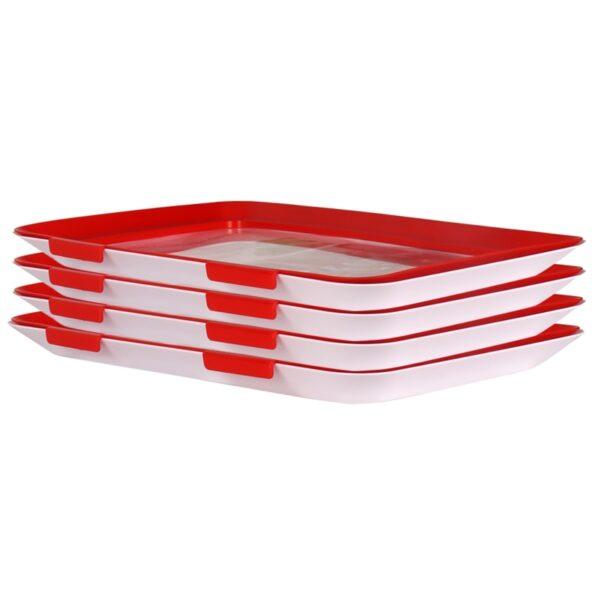 Creative Food Preservation Tray Food Fresh Keeping Fresh Spacer Organizer Food Preservate Refrigerator Food Storage