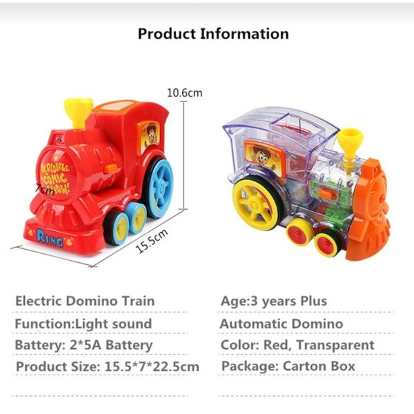 Automatic Domino Train - The Domino Game Car Toy Set Automatic Placement Domino Train