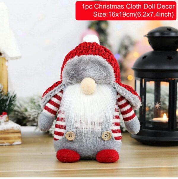 FRIGG Santa Faceless Doll 2020 Christmas Decorations For Home Merry Christmas Ornament Xmas Gifts Navidad Happy New Year 2021