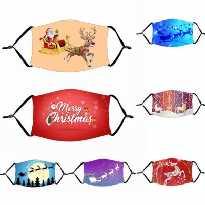Merry Christmas Mask - Gift Christmas Decorations For Home Xmas Decor Navidad Decor Santa Claus Christmas Deer Bear Happy New Year 2021