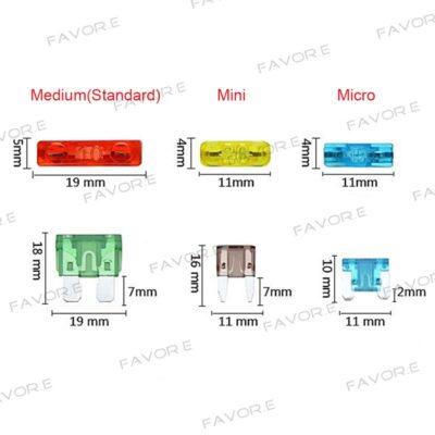 Micro2 Micro Mini Standard medium Blade Fuse Apapter Automotive Fuses tap Holder