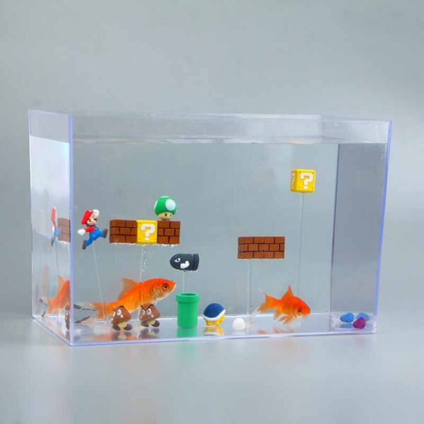 3D Super Mario Resin Fridge Magnets - 63pcs Toys for Kids Home Decoration Ornaments Figurines Wall Mario Magnet Bullets Bricks