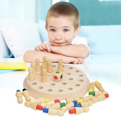 Wooden Memory Match Stick Game - Educational Color Cognitive Ability Toys For Children