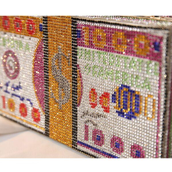 Crystal Money Clutch Bags Women's Wedding Luxury Design Diamond Evening Bags