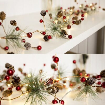 Christmas Lights Party LED String Lights Holiday Garland Home Decor Christmas Pine Cones Beads Star Led Lights Decoration JollyTree™ Christmas Fairy Lights
