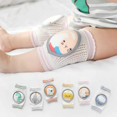 Children's Knee Pads Combed Cotton Large Mesh Breathable Baby Infant Crawling Knee Pads