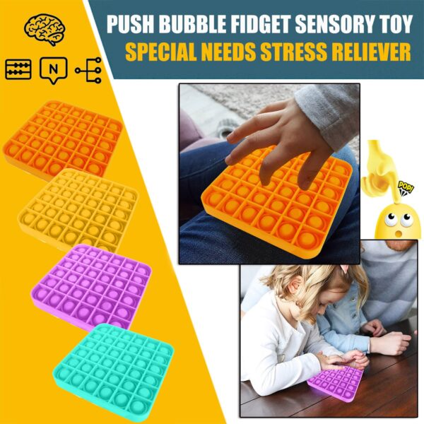 Push Pop Bubble Sensory Toy Autism Needs Squishy Stress Reliever Toys Adult Kid Funny Anti-stress Pop It Fidget Reliver Stress