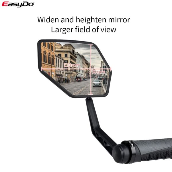 1 Pair Bicycle Rear View Mirror Bike Cycling Wide Range Back Sight Reflector Adjustable Left Right Mirrors