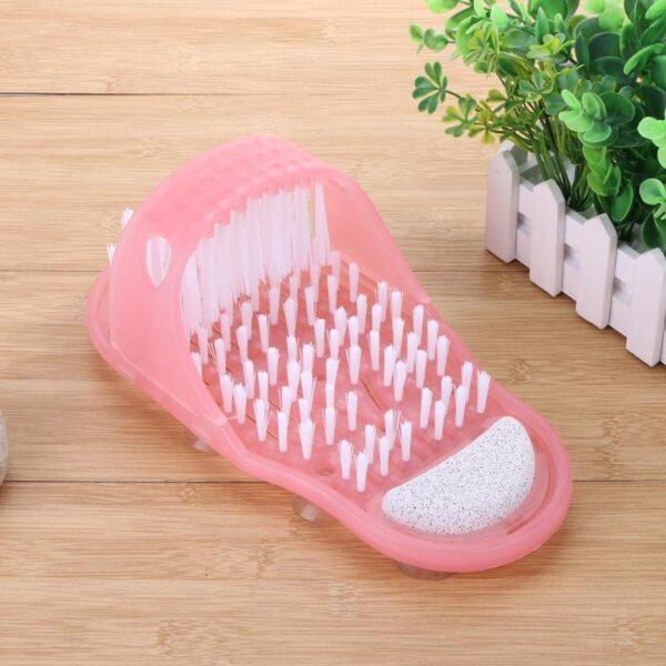 Foot Scrubber Shower Brush Massager Slippers Bath Slippers