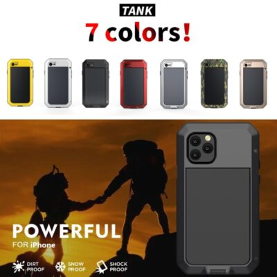 Phone Case for iPhone 11 Shockproof Cover Heavy Duty Protection Armor Metal Aluminum