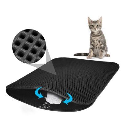 Pet Cat Litter Mat Double Layer Litter Cat Bed Pads Trapping Pets Litter Box Mat Pet Product Bed For Cats House Clean mat