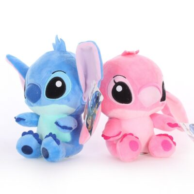 Disney's Lilo & Stitch Couple Models Cartoon Stuffed Plush Dolls Anime Plush Baby Toys Pendant Toys Girl Kids Birthday Gift