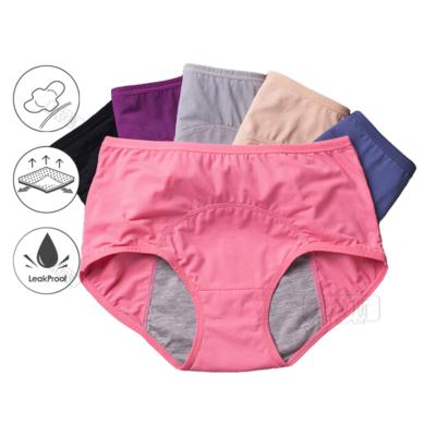 3pcs/Set Menstrual Leak Proof Panties - Incontinence Underwear Period Proof Briefs High Waist