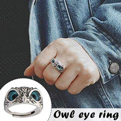 Demon Eye Owl Ring