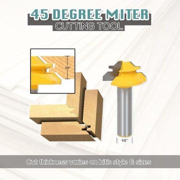 45-degree Lock Miter Router Bit