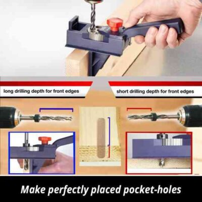 Adjustable Woodworking Drill Hole Jig