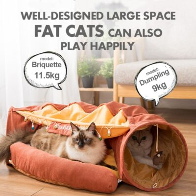Foldable Cat Tunnel Toy Cat Channel Cat Nest Playable Sleepable Autumn and Winter Cat Bed to Keep Warm and Comfortable