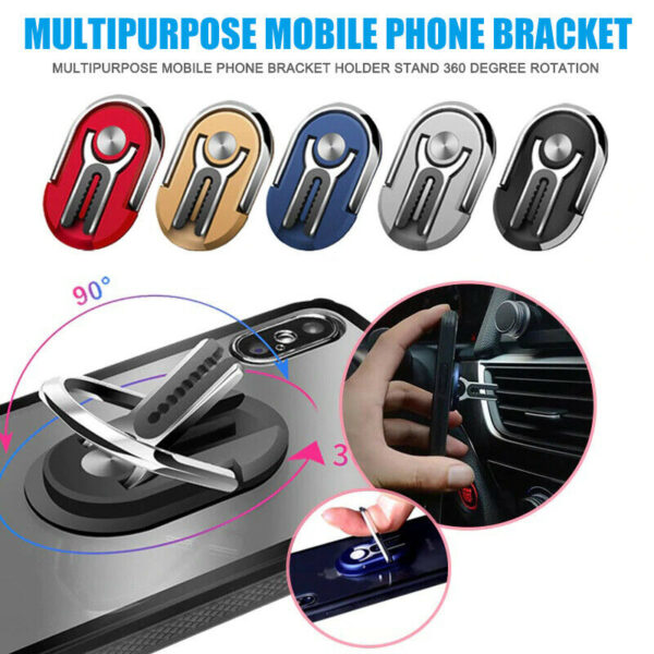 ALL IN ONE Multipurpose Mobile Phone Bracket Holder Stand 360 Degree Rotation Phone Magnetic Phone Holder for Car Home Iphone