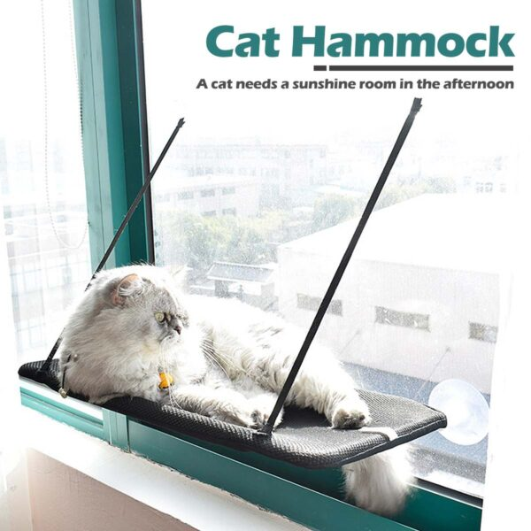 Cat Bed Window Mounted Cat Hammock Bed Pet Seat Super Suction Cup Hanging Lounger Soft Warm Bed For Cats Small Dogs Rabbits