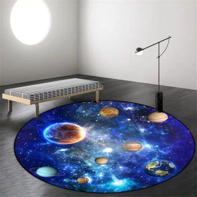 Solar Universe 3D Round Carpet