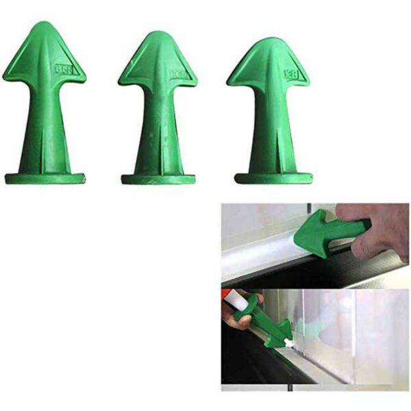 Silicone Caulking Nozzle Finisher Set Tile Cleaner Surface Glue Residual Shovel