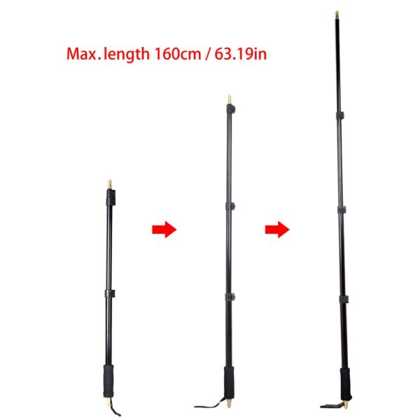 """Godox AD-S13 21-63""""/55-160cm Portable Light Boom Pole Stick Four section with 1/4"""" Male Thread for WITSTRO Flash AD180 AD360"""