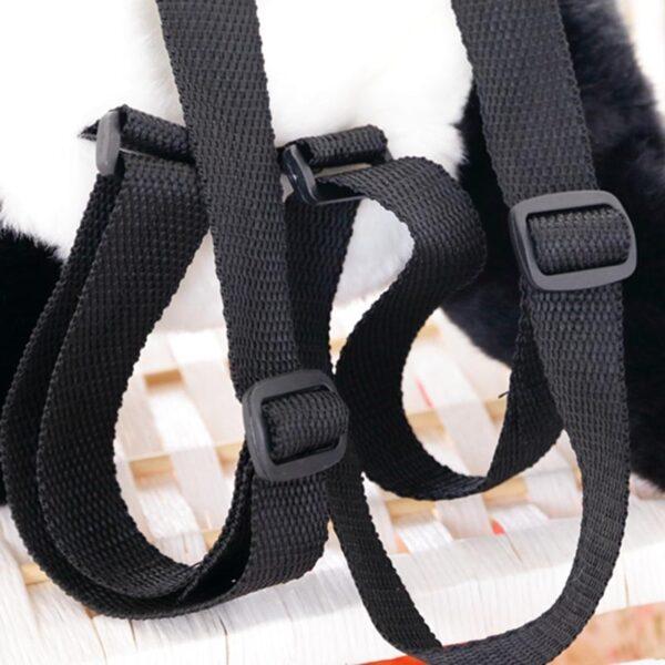 Panda Backpacks Stuffed Animal Bag Girls Boys Plush Adjustable Schoolbags Kindergarten Plush Backpack Toys Children Gifts