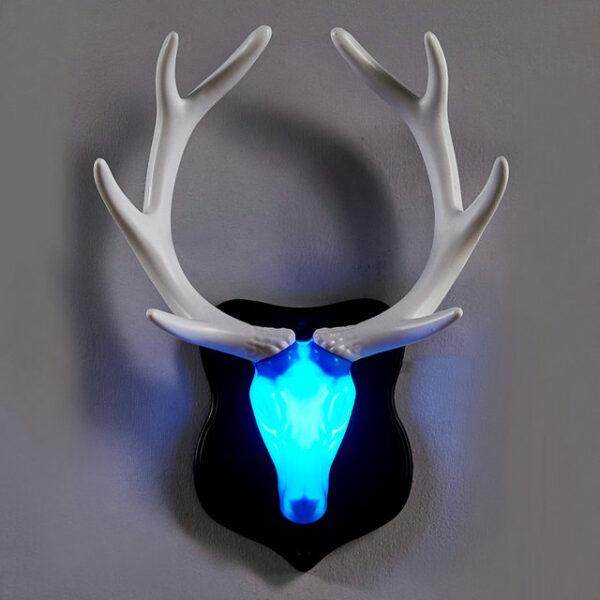 Nordic LED Bed Wall Lamp Living Room Bar Hotel Children Bedroom Creative Decor Deer Antler Wall Light LED Night Lights