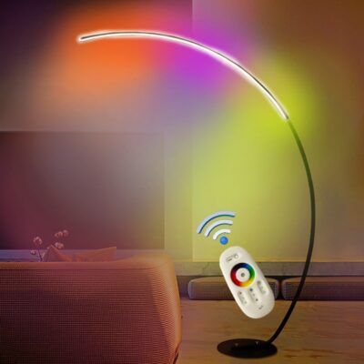 C Shade Floor Lamp Diamable Led Lighting Nordic Black Wthite Corner Floor Lamp Bedroom Decor Living Room Lamp Stand Lighting