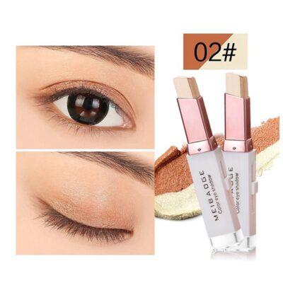 Professional 2 In 1 Double Color Gradient Velvet Shadow Stick Eye Makeup Waterproof Lasting Shimmer Metallic Eyeshadow Makeup